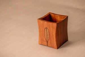 Wood Inlay Handmade Cutlery Holder by The Beehive India