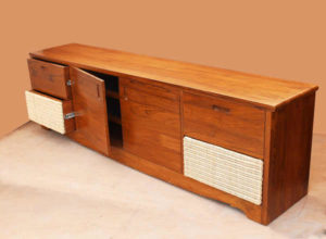 Wood & Cane Storage Cabinet by The Beehive India
