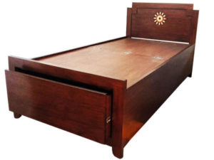 Wood Inlay Bed by The Beehive India
