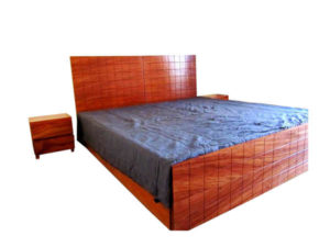 Wooden Double Bed by The Beehive India