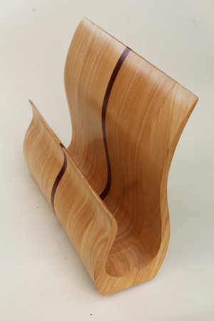 Wooden Magazine Holder by The Beehive India
