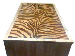 Wooden Inlay Dining Table by The Beehive India