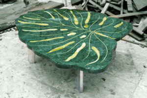 Stone Inlay Dining Table by The Beehive India