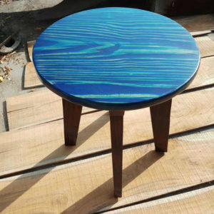Wooden Round Stool by The Beehive India