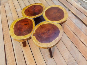 Organic Wooden Stool by The Beehive India